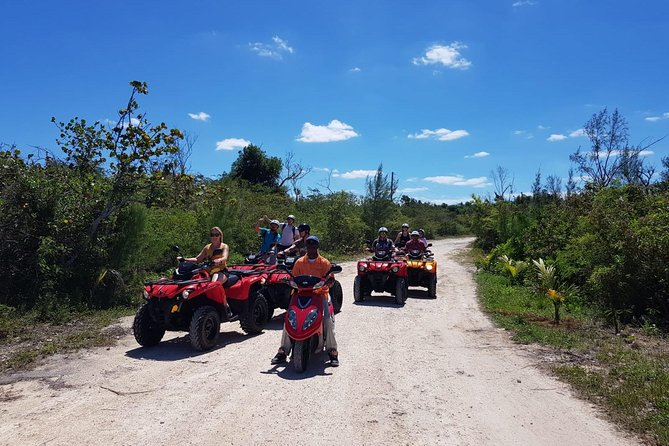 This 5 Hour ATV Guided tour on your very own 2018 Can-Am Outlander 450 ATV (2 passenger) model is perfect for exploring Clifton Heritage National Park 200+ acres of land. You'll be educated by one of the parks official Historians. Experience Culture, Revisit History, Explore Nature & Enjoy leisure. Home to the remains of Lucayan villages and plantations, as well as the setting to several movies of pop culture such as Jaws and James Bond series. Ride the scenic trails on this 200 acre Paradise. Bird watch, relax on one or try all of the peaceful secluded beaches at the park. Enjoy an Amazing Flavorful Bahamian Lunch after you've worked up an appetite swimming around in the beautiful crystal clear waters or riding around looking and touching remains of buildings built in the 1700's.