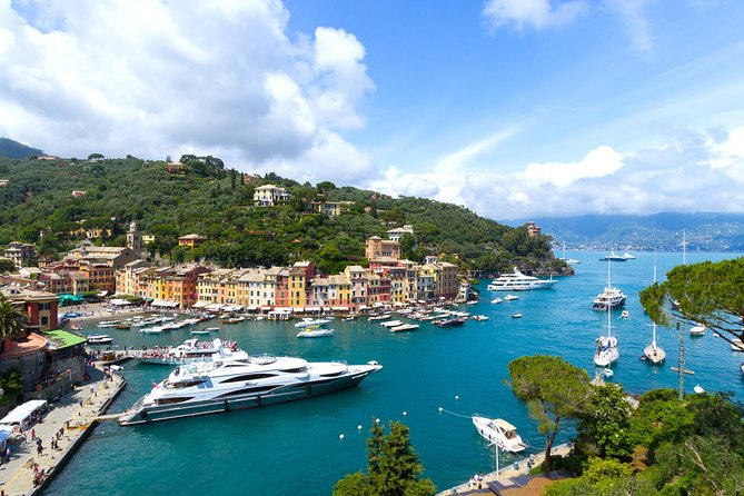 "If you are wondering how to spend a day in the Ligurian coastline, the answer is to take a trip to Portofino and Santa Margherita Ligure, two of the most exclusive towns of Italy. You will reach these towns thanks to a driver that will meet you at the port of Genoa, and from here will start your excursion on the coastline. First you will stop in Portofino, with its unique tiny harbour and colourful little houses. Spend some leisure time in the main square ""Piazzetta"" shopping in the exclusive boutiques and tasting a gelato. Next go up the higher part of the town to Brown's Castle, where you will remain astonished by the amazing view. Here you will stop for a delicious typical lunch and then move on to Santa Margherita Ligure. In ""Santa"", how the locals call it, you may spend some relaxing time enjoying the sunshine on the beach or walking through the alleyways and shopping. When the tour is finished your driver will take you back to Genoa through the amazing road that hugs the coast.<br>"
