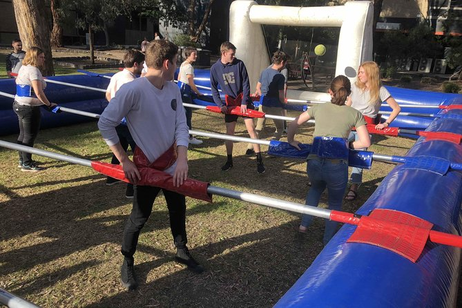 It's a great activity for a big group of all size and ages and abilities. It doesn't require a person to be fit as there is no running involved. Its heaps of fun and it's a team game hence the activity can help with team skills communication skills and help build a positive team environment especially for corporate team building events.<br><br>It's a unique event as not many businesses offer such an activity. Its also unique as it brings all the required life skills into play such as interpersonal communication, team skills, leadership and positive team environment.<br>
