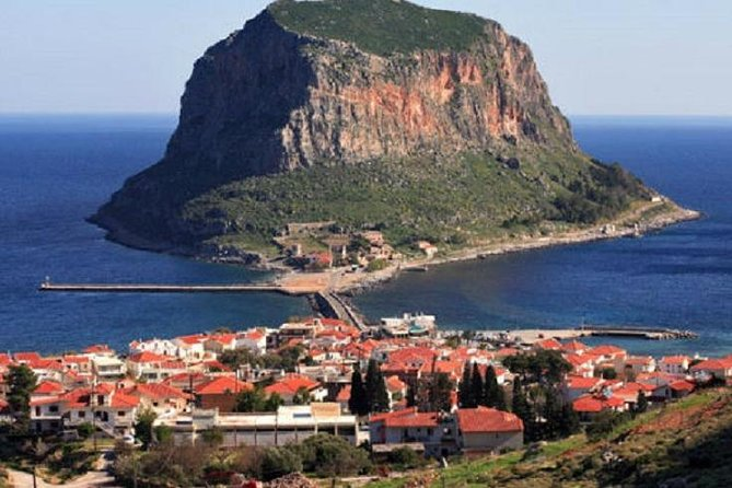 Get to know the history, culture, traditions, and nature of Monemvasia and its surrounding areas with this unforgettable tour. We will take to you to the best places of interest around Monemvasia and serve you a delicious meal made with local ingredients at our historical estate. The tour lasts 6+ hours and will be tailored to your specific interests. At the end of the day, you will be enriched by an experience you will never forget. <br><br>Points of interest:<br>• A visit to the Castle of Monemvasia <br>• The Cave of Kastania <br>• Neapoli <br>• Petrified forest of Agia Marina<br>• Picturesque bay of Archangelos<br>• Guided tour of an Historical Mansion on the traditional way of olive oil making<br>• Lunch with local specialties which includes wine, at Liotrivi Restaurant<br>• Lagoon of Gerakas<br>• Private and sunny beaches along the way<br>• Beautiful walks in nature, with hotspots for photos<br>