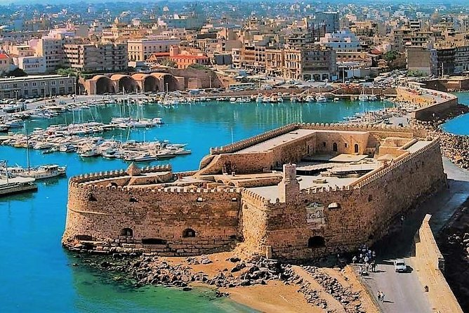 This tour is a unique experience, to visit the most important places in Heraklion City.<br><br>The tour schedule is flexible regarding the time spent at its attraction.<br><br>Our driver will pick you up from your Hotel or Port in Heraklion City.<br><br>The transfer is private and our English-speaking driver will drive you around the sightseeings.