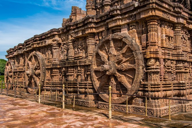 On this tour, get a chance to explore two of most visited Bhubaneshwar's most visited destinations. In Konark, explore the 13th century ruins of the famous Konark Sun Temple (a UNESCO World Heritage Site) that is built from stone in the form of a giant ornamented chariot. Also, bask under the sun at Chandrabhaga beach, which is a popular venue for many cultural activities, and is known for its clean and green environment. In Puri, pay a visit to the sacred Puri Jagannath temple and Gundicha temple.