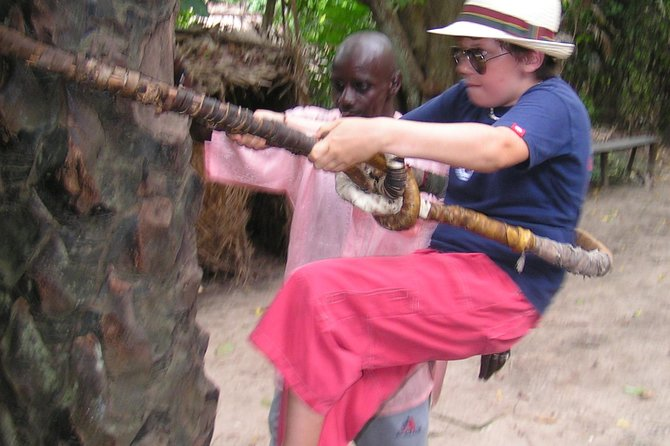 Visiting one of Gambia's Eco Forest in a beautiful settings. Explore the creek in a canoe (30 -40 mins) and roam the palm forest for 1 or 1 1/2 hrs with chances of wildlife sightings. Meet with some locals who use the forest to practice their trade or culture, such as the fortune teller and the palm wine tapper. <br><br>Please bring along your swim suite for the use of the swimming pool (if in use at the time)