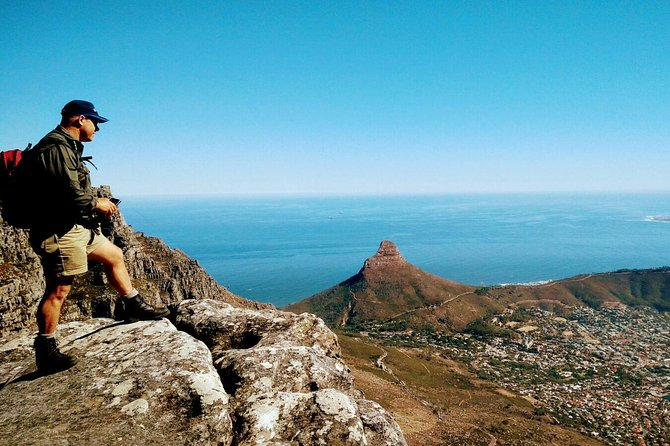 One of the most spectacular hikes up Table Mountain, aiming to depart around sunrise, seeing the sun flood into the city from behind the mountain is breathtaking<br>Whilst seeming impossible, the route becomes adventurous, not too challenging and achievable. <br>Views are initially of the North (front) of the Mountain, then along the 12 Apostle West face of the Mountain.<br><br>Photography stops always accommodated, inexperienced hikers welcomed.<br>Please be prepared for changing temperatures, a light weight waterproof jacket, fleece and base layer may all be required.<br>A head torch is useful but not necessary<br><br>You will be exposed to heights, and wide open expanses, this is not a hike for those with a fear of these<br><br>Your guide will fill you in with details of the flora and surrounding history.<br><br>The Descent down Platteklip gorge is rarely taken up, most guests opting for the Cable car, however if the Cable car is not running then the default is to hike down, please be prepared to hike down.