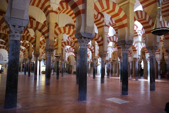 Walking tour with a local qualified guide, you will enjoy a tour of the Cathedral and former the Great Mosque of Cordoba.