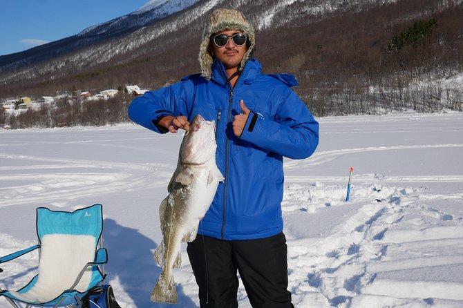 Ice Fishing On The Fjord, Tromso, NORUEGA