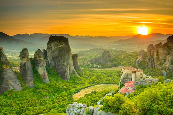 Visit Ancient Delphi and Meteora, two legendary UNESCO World Heritage sites, on a 2-day tour from Athens! With an expert guide, explore the archeological site at Delphi on a walking tour and learn about Ancient Greece while seeing the Sanctuary of Apollo and more. Travel through the picturesque towns of the Thessalian plains, and stay overnight in a 3- or 4-star hotel in Kalambaka, gateway to Meteora. The following day, explore two of Meteora's beguiling cliff-top monasteries before making the journey back to Athens.