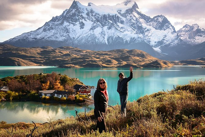 Depart from your hotel in Puerto Natales to discover the wonders of Torres del Paine National Park. This full-day tour brings visitors to the most scenic panoramas of the park that are accessible by vehicle. Visit its most famous attractions, while learning about the flora and fauna of the mountains that characterize the zone. As you ride through the park you'll have the opportunity to enjoy its amazing views, to discover a beautiful waterfall, to gaze at its beautiful lakes and lagoons from the lookout points, and to further explore as you go on short hikes for some even better perspectives.