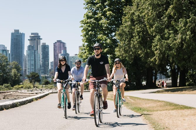 On this popular 5-hour bike tour of Vancouver, ride on dedicated cycling lanes for most of the easygoing route, and stop to hear tales of the city from a knowledgeable guide. Without traffic to worry about, focus on the sights: Stanley Park's rain forest and wildlife, an oasis in Chinatown named one of the world's top city gardens, and the city's historical center of Gastown. Cycle on seawalls for magnificent views of the skyline, North Shore Mountains and False Creek. Riders of all levels will enjoy this small-group tour limited to 12 people.