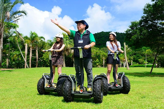 ENGLISH INSTRUCTOR UPON REQUEST: Please make a reservation in advance.<br><br>For those who have never experienced a Segway, keep reading, as it is very easy to learn and enormous fun. For those who have ridden one before, rest assured this trip will be better than any you have tried before.<br><br>IMPORTANT: Our tours start from Ishigaki Island, not Okinawa main land.<br>It takes one hour by air from Naha airport OKA to Ishigaki airport ISG.<br><br>NB: Your age should be 16-70 years old for a safety reason.<br>If you are pregnant, drunk, or otherwise unfit for the tour, you cannot participate. Also, if the instructor determines that there is a safety problem due to illness, injury, or other reasons, participation may be refused during the tour and the fee is not refundable in that case.