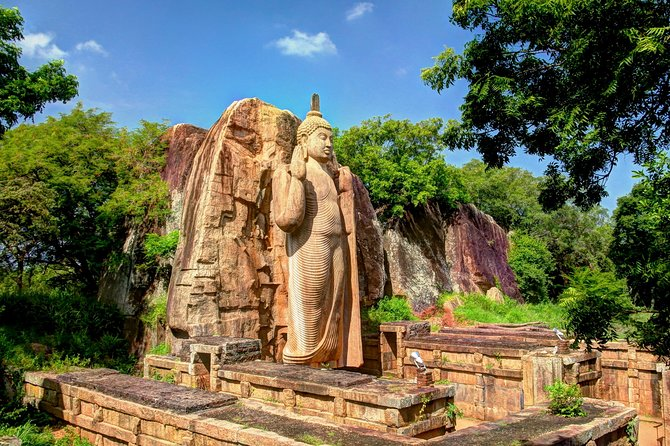 (SKU: LK10270200) Visit sacred Anuradhapura city and explore the first kingdom of Sri Lanka. Visit the rock fortress of Sigiriya and discover its marvels. Explore the Golden Temple of Dambulla long with its five main caves dedicated to Buddha and Buddhism. Stay at some of the best beaches of Sri Lanka with their golden sand, bright blue sea and swaying palms. (SKU: LK10270200)
