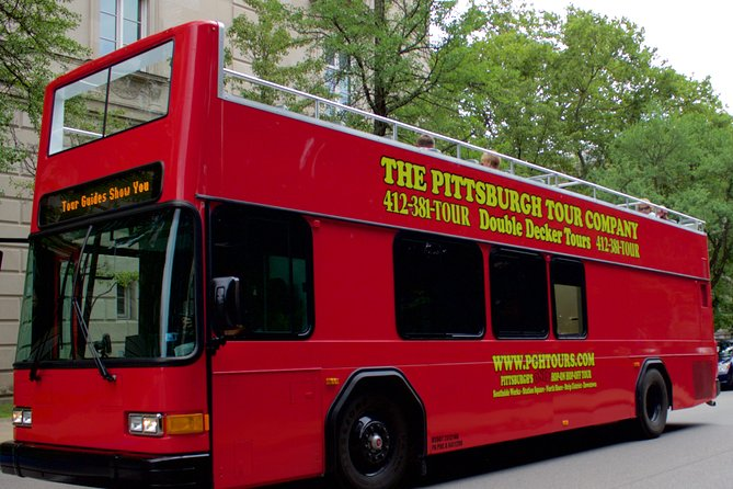 Hop aboard one of our Double decker buses and take Pittsburgh's best sightseeing city tour. Our live guides will keep you entertained and informed! With 21 stops, you can Hop On & Hop Off and explore and resume your tour later. On this tour we travel through; Southside, Station Square, North Shore, North Side, The Strip District, The Cultural District, Downtown, Uptown & Oakland. You will learn about all the history, current events, architecture and more. Bring you sunblock and camera to the top deck of our open air buses! <br><br>Buy your tickets today.