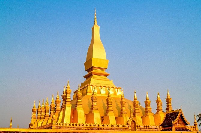 Delve into the culture and heritage of Laos' capital on this half-day private tour of Vientiane. Accompanied by a local guide, visit the city's most prominent sights, learning about Vientiane's history and spiritual traditions.<br><br>Your first stop after getting picked up from your hotel is Vientiane's Wat Sisaket temple. Known for its cloister wall of over 6,800 Buddha statues, Wat Sisaket is the city's oldest surviving temple and is still in use as a religious site today. Head next to Wat Prakeo, which once served as the temple of the royal family, housed the Emerald Buddha for 200 years, and is now functional as a museum. Head to That Luang Stupa, the single most important monument in Laos, which was built to cover the original small stupa containing a piece of the chest bone of Buddha before diving further into the country's heritage by visiting the Patuxay monument, which is known as Vientiane's Arc de Triomphe and stands as a symbol of Laos' independence.