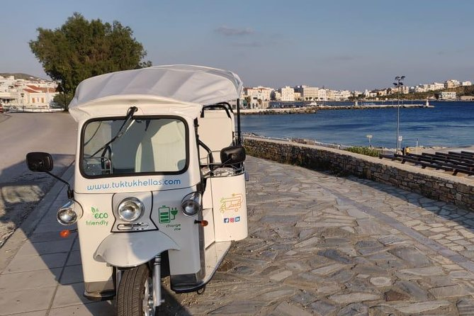 e-Tuk Mykonos Panorama VIP Tour & Cheese Tasting Experience, Miconos, Grécia