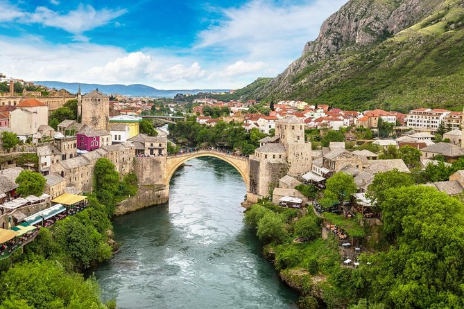 Experience the best of Bosnia and Herzegovina on a day trip to the country's main cities, including Mostar and Medjugorje. Leave Dubrovnik behind and visit Bosnia's only coastal town, Neum, and continue to Pocitelj, whose city center is listed as a UNESCO World Heritage Site. Visit Pocitelj with your guide and see sights like the Haji-Ali Mosque and Sahat-kula. Next, spend time in Medjugorje, an important spiritual location for the Catholic world. Continue to Mostar and witness the town's mixed cultural background and historical sites, like Mostar's Old Bridge, before returning to Dubrovnik.