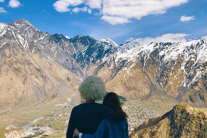 One-day tour to Ananuri and Kazbegi with the itinerary from the capital city Tbilisi to the snow-capped peak of the Mount Kazbek will open up an enchanting Georgia. On the way there, you will visit a bewitching Ananuri complex located at the quiet waters of the Jinvali Lake, see the beauty of mountainous rivers and gorges of Kazbek, and enjoy the tranquility in the Gergeti church, which is the final destination of the journey. There you will get an amazing view on the village of Kazbegi and grand Mount Kazbek.
