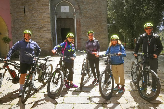 This is the only tour in which you can see all the Cinque Terre from land in a bunch of hours. The ebikes allow to enjoy the Cinque Terre area in a different and innovative way, and the electric motor will save your legs for other activities the rest of the day!<br><br>This tour also permit to pass through pedestrian areas, and in a bunch of minutes we are on the mountainside admiring the sea and the villages from above. How else can you go 500 meters above the sea level without effort ?<br><br>Passing through the fields and the woods above the villages will permit you to fully understand the history of the region, which was originally dedicated to agriculture rather than fishing.<br><br>The visit comprehend the town of Riomaggiore, and two mountainside sanctuaries: Volastra (Manarola) and Soviore (Monterosso)<br><br>This is a mildly adventurous tour, perfect for families: we don't ride fast, everyone can take his/her time, and the 95% of the road is paved (5% is for optional, brief passages on hiking trails)