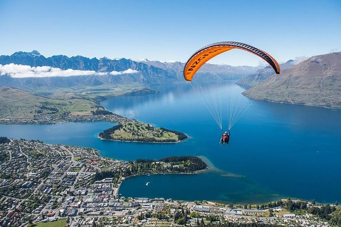 We are the only company permitted to fly over Queenstown with stunning views of the city and Lake Wakatipu. GFORCE is New Zealand`s largest and most experienced paragliding company.<br><br>Professionalism and safety are always key – we undertake ongoing training to always be at the top of our game. Our pilots are the best in the business, with well over two hundred years of combined tandem flying time.<br><br>The flight is tailored to you – thrill seekers and those looking for a more relaxed pace are both catered to.<br><br>Our philosophy is one of providing our customers with a genuine joy-ride. We pride ourselves on having our clients walk off the landing field with a big smile!