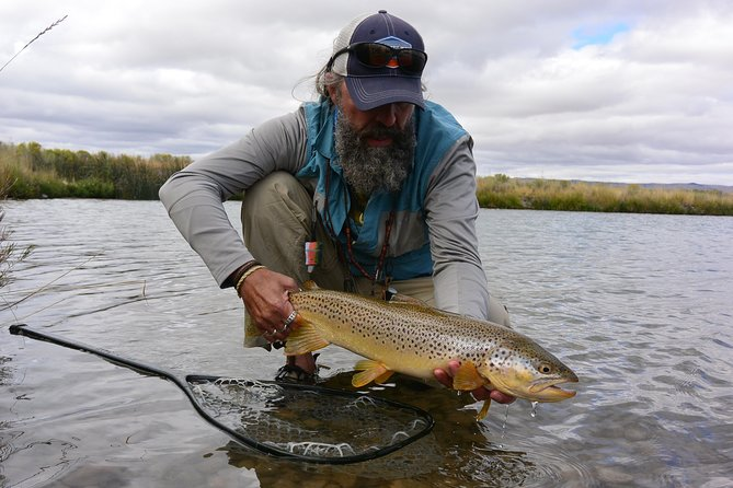 """We provide expert fly fishing guide services on southwest Montana's most legendary trout streams. A full day is 8 hours and a half day is 4. We provide a great lunch and drinks as well as rods and reels if needed. We are located in Sheridan Montana which is perfectly located to right in the middle of the best trout fishing in Montana. We are lucky enough to have 5 major """"Blue Ribbon"""" trout streams all within driving distance. The Madison. Big Hole, Beaverhead, Jefferson and Ruby Rivers are our """"home water"""" which gives us the unique opportunity fish a different river each day of your stay! We choose the best river to fish depending on the conditions. Our guides will teach you the skills you need to know to catch that trophy Montana trout!"""