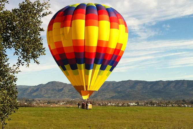 This hot-air balloon flight is a bucket-list and a once-in-a-life experience . This ultimate getaway custom adventure to experience a thrilling hot-air balloon ride over Napa Valley. See California Wine Country from a new perspective, This must-see attraction is a once-in-a-lifetime experience: Ride a hot-air balloon over the lush vineyards of Napa Valley. This 8-hour guided tour includes a Napa Valley hot-air balloon adventure followed by a guided tour of several wineries (of your choice) in Napa Valley Wine Country. Whether you are a San Francisco Bay area local or visiting for business or leisure, this hot-air balloon ride is highly recommended if you are looking for an unforgettable fun ride across the beautiful Napa Valley and its vineyards. This hot-air balloon and winery experience can also be purchased as a gift for your friends and family as a unique gift for any special occasion.
