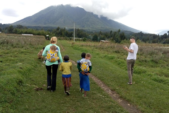 It is an amazing and very adventurous experience, as you will see how the Rwandese live in their villages and homes and see the magnificent view of five beautiful volcanoes.<br><br>This short walk on foot takes roughly 3 hours and the longer one takes around 5 hours or more depending on guests' preference or their physical fitness and it ends at the foot of Bisoke volcano and have a lunch there after a short massage by the staff of volcanoes Resto-Bar.