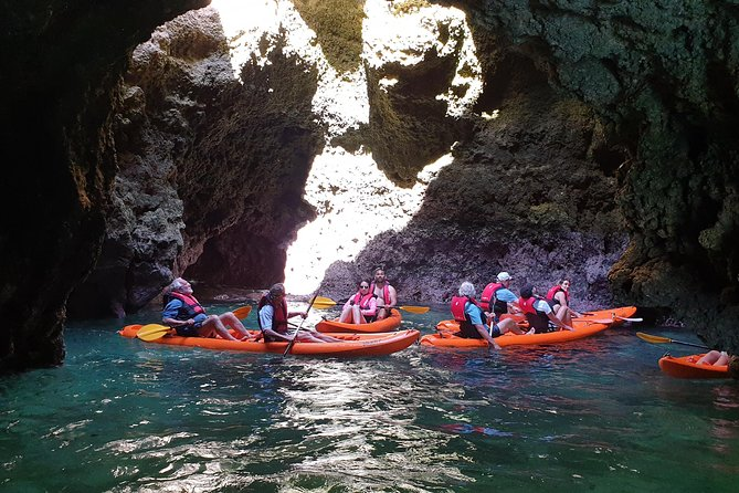 Kayak Adventure to go inside Ponta da Piedade Caves/Grottos and see the Beaches, Lagos, PORTUGAL