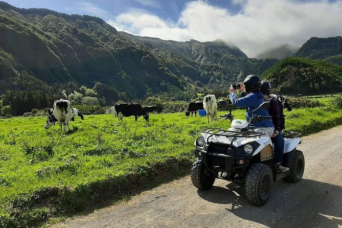 On this tour you will be the driver of an ATV and this will probably be the best way to feel the Island.<br><br>This tour will take you to the highest points of the mountains that surround the Crater of Sete Cidades, byoffroadsthat will provide you incredible views and the perfect mix between nature and adventure.<br><br>