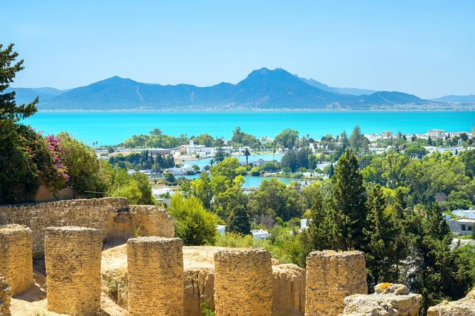 Visit the ancient city of Carthage, a seaside village, and the Tunis medina on a full-day tour from Tunis that includes lunch and round-trip transport from your Tunis centrally located hotel. This 8-hours tour takes you to two of Tunisia's 7 UNESCO World Heritage Sites in a single day.<br><br>Highlights<br> • Full-day Tunis tour<br> • Visit the Punic city of Carthage<br> • Have lunch in La Goulette<br> • Explore the Tunis medina with a licensed professional guide<br> • Hotel pickup and drop-off from your Tunis centrally located hotel