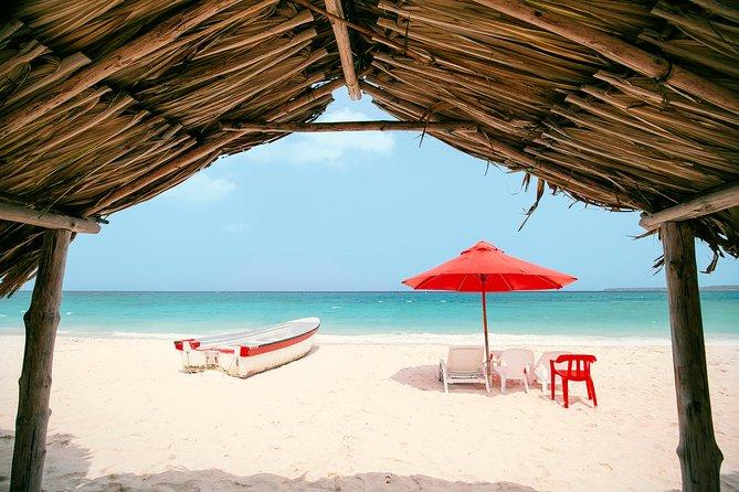 Usted quiere conocer las mejores playas de Cartagena?<br>Venga y disfrute Playa blanca, es sin duda el mejor sitio por sus arenas Blancas y sus aguas cristalinas, en donde ademas disfrutará de un delicioso plato tipico Cartagenero .<br>Nuestro sitio esta alejado a 10 minutos del tumulto y usted no tendrá que pagar bohios para protegerse del sol, Somos indiscutible-mente la mejor opción