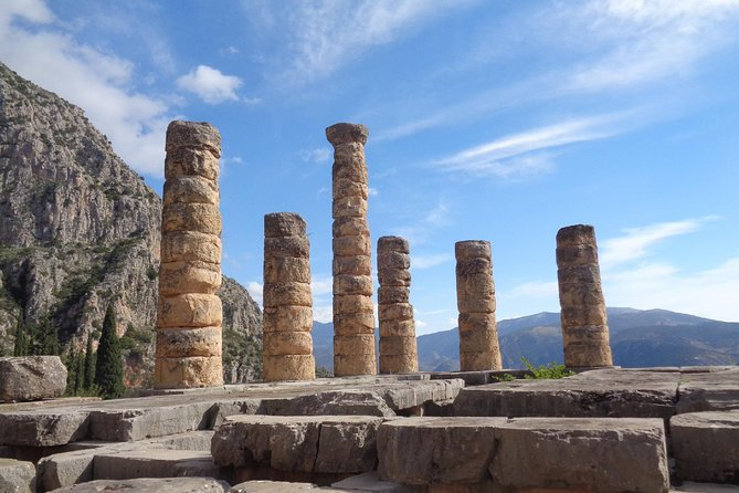 Immerse yourself in the magic of Delphi with a fascinating audio tour on your phone and discover the secrets of a Unesco World Heritage Site, once known as the center of the ancient world. <br><br>Start your tour from the Castalian Spring, outside the archaeological site, and then continue to explore the ruins of the Delphi sanctuary and their rich history. They will all reveal to you how thousands of years before you hopped that bus to Parnassus, the Delphic oracle had already been a prominent attraction for ancient travelers. Follow in the footsteps of erstwhile pilgrims to discover the database of the then known world and let the wild beauty of this formidable scenery unfold before your eyes! This is an unmissable opportunity to experience at your own pace the spiritual power of Delphi with a captivating audio tour on your phone. <br> * Ticket/entrance fee to the archaeological site is not included.