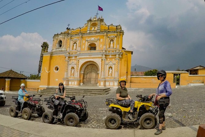 This tour lasts about 5.5-hours and it isdone on motorcycles, scooters or ATVs. You will goall over the valley and visit over 7 villages located near or around Central Antigua. You have the option to choose the vehicle that you are the most comfortable or ride with one of thetrained guides. You will have many aerial views of the city, birds eye views of the volcanoes and a close encounter with local Mayan villagers that live around the city of Antigua. Youwill drive through the cobblestone streets, paved roads, and some off road during this amazing must do activity in Antigua.