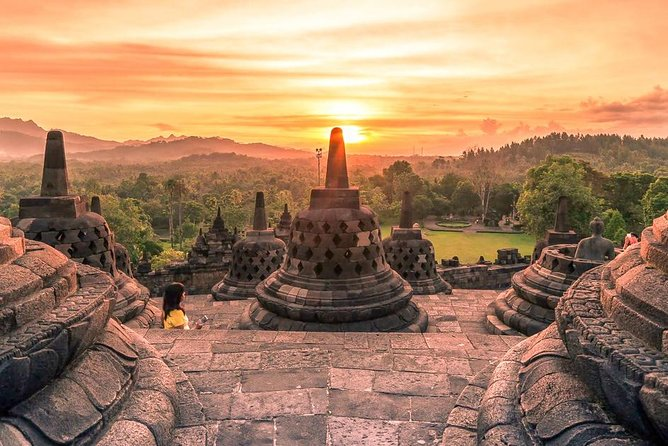 Experience the extraordinary holiday in Yogyakarta by visiting the magnificent temples & participating in the volcanic tour! We combine the experiences of culture, nature and adventure by enjoying the sunrise from a hill with the backdrop of Borobudur temple and volcanoes in central Java followed by a visit to Mendut & Pawon temples. Afterwards, we will explore one of the most active volcanos in Indonesia at Mount Merapi by 4WD jeep.<br>Highlights:<br> • Enjoy the spectacular sunrise view of Borobudur followed by Mendut & Pawon temples tour <br> • Explore the UNESCO World Heritage sites of Borobudur <br> • Witness the amazing view of Mount Merapi on a 4WD lava tour <br> • Admission Fees included to avoid hassle