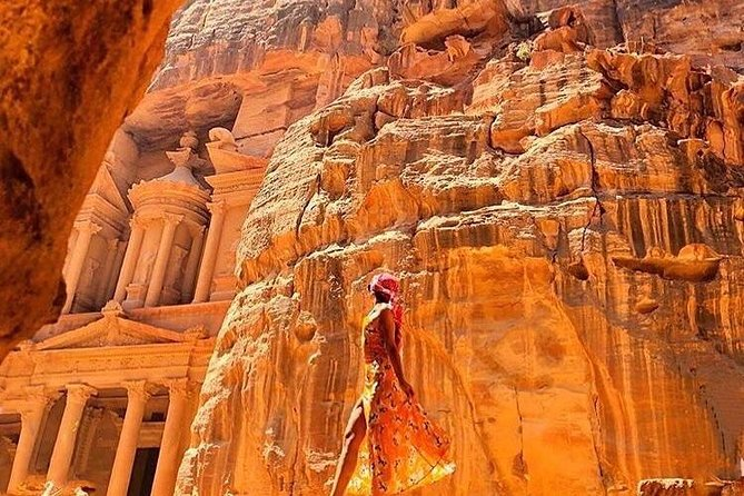 Explore the magnificent so called Red Rose City, Petra, on a private tour with an English speaking driver. You can choose given options to add a local guide or lunch.