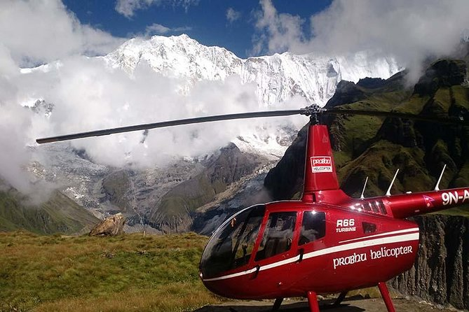Annapurna Base Camp Helicopter Tour is a short and fabulous trip to the lap of Annapurna Region, one of the world desirable destination by the Helicopter. You will fly over different forest, villages, rivers, cultivated terrains at the best price. Along with this, you can have the spectacular panoramic view of Dhaulagiri mountain, Machhapuchre mountain, Himchuli mountain and Myriads. We land at Annapurna Base Camp and spend around 30 mins to celebrate the incredible mountain views. Total timing of this tour will be approximately 90 minutes including landing time. This trip is comfortable for travellers of any age group. <br>Helicopter ride to Annapurna base camp will make an unforgettable Nepal holiday.