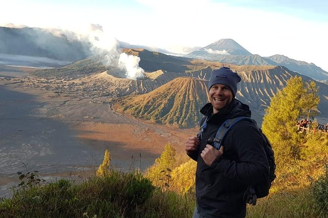 Discover two beautiful volcanoes on 2 Days trip!<br><br>Get ready to be picked up at 23.30 PM by our driver and professional guide who will take you to Bromo area in Probolinggo. Upon departing from Surabaya or Malang, you will reach the destination in 3 hours. Then, we will continue the trip by Jeep (4 WD) to enjoy the bumpy road towards Mt. Penanjakan which is the best spot to enjoy the breathtaking scene of Bromo sunrise. Driving down the hill, you will pass the vast sea of sand, resulting from the eruption of Mt. Bromo, in a 30 minute-easy track all the way to the peak. From the crater rim, you can see the active Bromo crater, caldera and the mountainous views of Mt. Batok and the highest mount in Java Island, Mt. Semeru. Also, you can find the Hindu temple reflecting the Majapahit Kingdom history. Next day, be ready at 1 am we will pick you up from hotel. Afterwards we will begin an hour trek to Ijen Crater.  Here, you can get the chance to witness the Blue Fire phenomenon.