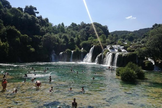 This is an excellent way to see Krka National Park exactly as you want .... <br><br>If you don't really like big groups and don't want to follow guides, you can spend your day in a different way. Best thing is that you can actually swim in the lakes of Krka and enjoy crystal clear water.<br><br>You may want to sit in the shade under the tree after a long walk, or have lunch where you choose or something else...<br><br>The tour takes about 9 hours, including the ride and the time you spend in the National Park Krka ( about 6 hours ). <br><br>You can see the entire National park in 4 hours and you still have two hours to relax, take some photos and enjoy. <br><br>We have the tickets booked for all the participants ! <br><br>The driver will collect the tickets and you will enter the park with no waiting in lines ! Please prepare CASH for Entrance tickets.<br><br>The ticket includes boat ride in the National Park. <br><br>It will be safe, we promise. We will meet again at 3:00 pm, drive to Zadar takes 1 hour, and at 4 pm we're back in Zadar.