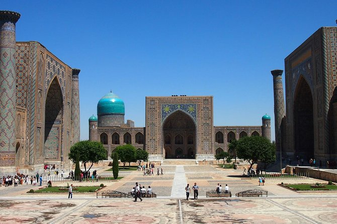 Go back in time and let yourself be amazed by the Heart of Samarkand - Registan and the legendary city Afrosiab. Magical and full of history, the capital of the one of greatest conquerors of the world Amir Timur. The double domes of Shahi-Zinda Necropolis are majestically located to attract the city's visitors. This tour includes air conditioned sedan car, English speaking guide. This tour starts from anywhere in Samarkand and ends at Bibkhanum Mosques near Siab Bazar.