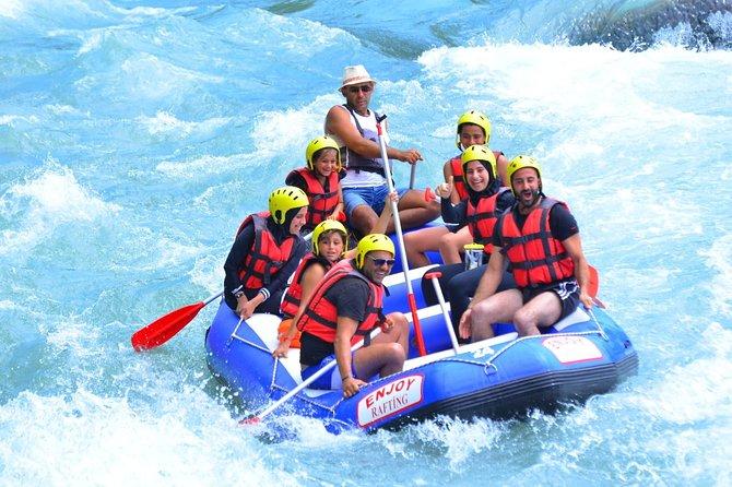 An adventurous and exciting 14 km rafting tour in Köprülü Canyon. Köprülü Canyon has the most popular rafting circuit in Antalya City of Turkey.