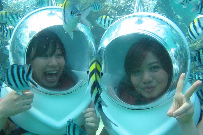 This Sea Walker experience is like scuba diving but much easier, no need any certification or dive experience. You will always be accompanied by the instructor while walking on the ocean exploring marine life and very easy to breath.