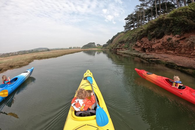 GO WITH THE FLOW!<br><br>On our kayak tours you can expect to explore the Exe Estuary, with golden sands and beautiful sea close to our base in Exmouth. We'll complete a picturesque journey, including whichever activities you would enjoy – whether that be wildlife watching, a bit of bushcraft or just relaxing on an otherwise inaccessible beach. If you are new to kayaking then we'll show you all you need to know. Sign up as a family, individual or group.