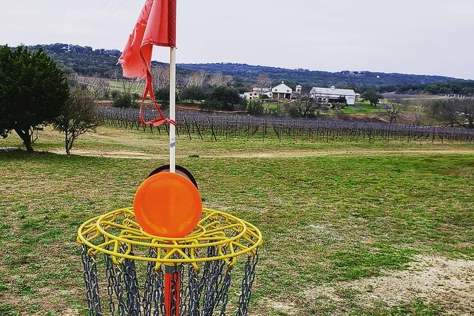 Play Disc Golf on the Only Professionally Designed Course in Texas Located on a Vineyard! Exercise and an active lifestyle always have a home here at Flat Creek Estate. If you're an avid disc golfer, you'll appreciate our professional course designed by John Houck (Houck Design). If you've never played the sport, you'll love the beautiful walking paths between holes and can test your skills on the recreational course.