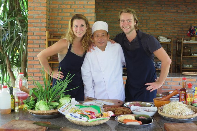 Accompanied & guided by Chef Dat with 18 year experience and Dat is also a certified English speaking guide for over 20 years. Chef Dat is well know on the Nha Trang restaurant scene for both his cooking skill and his ability to transfer some of his remarkable talents to eager students. Dat's excellent English skills will ensure a smooth, easy and educational day.<br><br>Using fresh ingredients and concocting imaginative flavors, this is a fun and interesting way to learn the local cuisine.<br><br>Enjoy a unique, hands - on cooking experience from start to finish in preparing three fabulous and traditional Vietnamese dishes.<br><br>As part of your culinary adventure you will also be given detailed recipes, so when you arrive back home, you will be able to impress your family and friends (and yourself) with some great Vietnamese food.