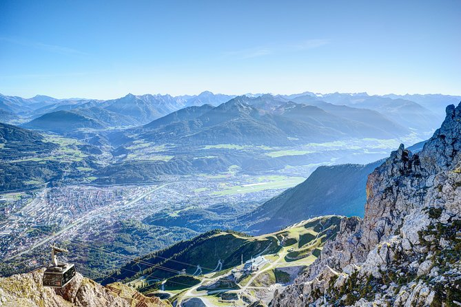 Enjoy this round trip to the Top of Innsbruck with the Nordkette Cabe Car and experience the panoramic views it will offer you. TheInnsbrucker Nordkettenbahnen will transport you directly from the city center of Innsbruck to the Hafelekar mountain on 2.300m within just 30 minutes.
