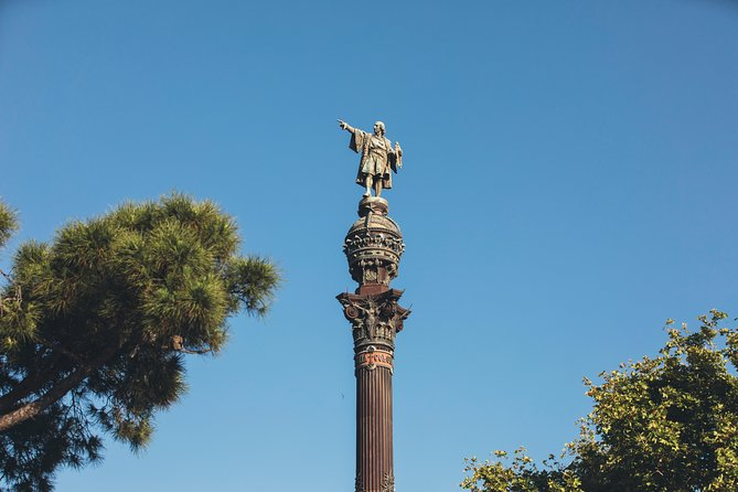 Skip the Line: Columbus Monument Ticket with Upgrade Wine Tasting in Barcelona, Barcelona, Spain