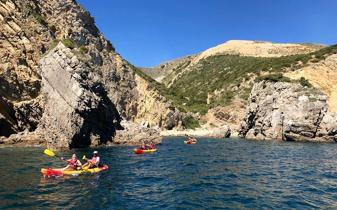 The best views of Arrábida Natural Park are here in the ancient village of Sesimbra.<br><br>Meet us directly by the ocean and start an adventure we promise you will never forget.<br><br>Kayak through a landscape formed 18M years ago and that we have the privilege of calling home.