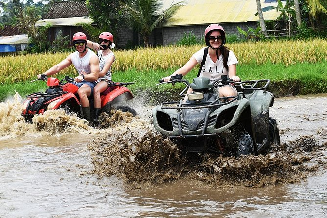 -Pick up from the hotel depend on the time table available<br>-Driving to the location around 1 hour<br>-Upon arrival will get a welcome drink, sign insurance, and you will get equipment (helmet & boots)<br>-Introduction from our guide or instructor<br>-Try the ATV in a special area<br>-Start the Bali ATV Ride Adventure<br>-2 hours riding the ATV<br>-The track will pass through rice field, cave(500m), Balinese plantation, bamboo plantation, forest area, river area<br>-Finish the ATV ride will take a shower<br>-Having lunch at the restaurant<br>-Drive back to your hotel