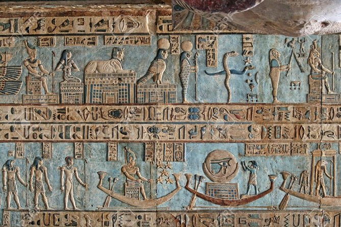 The temple was built by King Seti I, and completed by King Ramsess II, known as the temple of Seti I. It is located in Abydos city about 420 km to the south of Cairo in Sohag Government, and 135 km from Luxor . The paintings of the Gods and Pharaohs on the walls of the Osiris Temple at Abydos are among the most beautifully preserved in Egypt. Then continue to Dendera to visit the Temple of Hathor, goddess of love and joy.