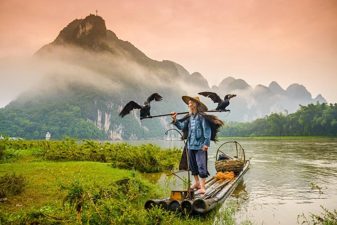 One-Day Li River Cruise with Bamboo Rafting in Yangshuo, Guilin, CHINA