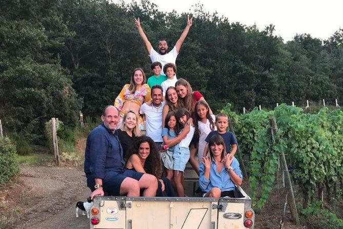 This is a unique winery experience on a beautiful estate overlooking the Tuscan coast and the islands of the Tuscan archipelago. Exclusive opportunity to visit rare Tuscan pigs and homing pigeons.<br><br>Delicious wine tasting is included.
