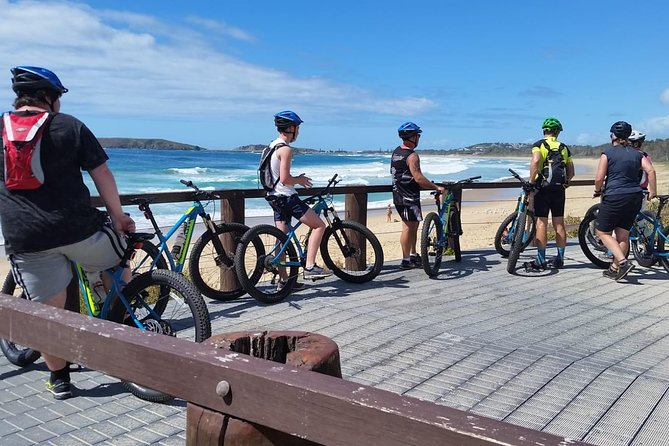 We meet at Bonville Headland where you can take in the magnificent views of the coast. Here we will supply you with a mountain bike & helmet. After a short debrief of bike & safety checks, we will commence our ride, heading north towards Coffs Harbour. <br><br>A ride around the jetty foreshores is a wonderful way to capture the Coffs coastline. There are so many magnificent viewing platforms, & you will see the jetty from north to south to being right on it. At times we have the opportunity to see various wildlife including sea birds, green sea turtles, sting rays, dolphins & during the migrating seasons, whales.<br><br>You have a few options: A walk up & over Muttonbird Island; a swim at Jetty beach; or you can relax with a coffee/snack by the ocean (at own expense). The Coffs Harbour Markets are also on every Sunday at the Jetty. <br><br>Leaving the Jetty, we head back to Sawtell. <br><br>All bikes & helmets are included, all you need is a drink bottle, camera and your sense of adventure.